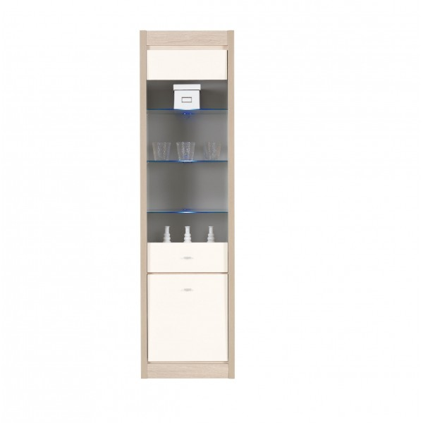 Axel Tall Display Cabinet with LED Lights