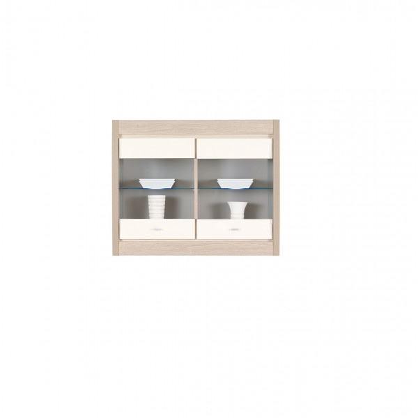 Axel Wall Mounted 2 Doors Display Cabinet with LED Lights