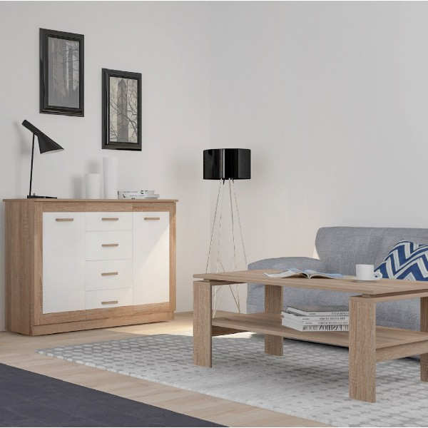 Baltic 2-Doors and 4-Drawers Sideboard