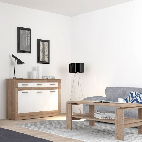 Baltic 3-Doors and 3-Drawers Sideboard