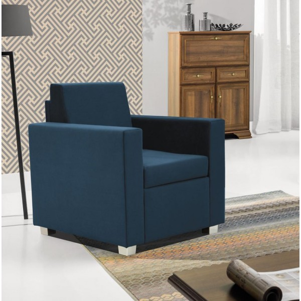 Epic Armchair in Blue Fabric