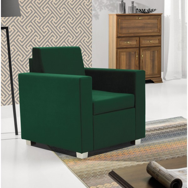 Epic Armchair in Green Fabric