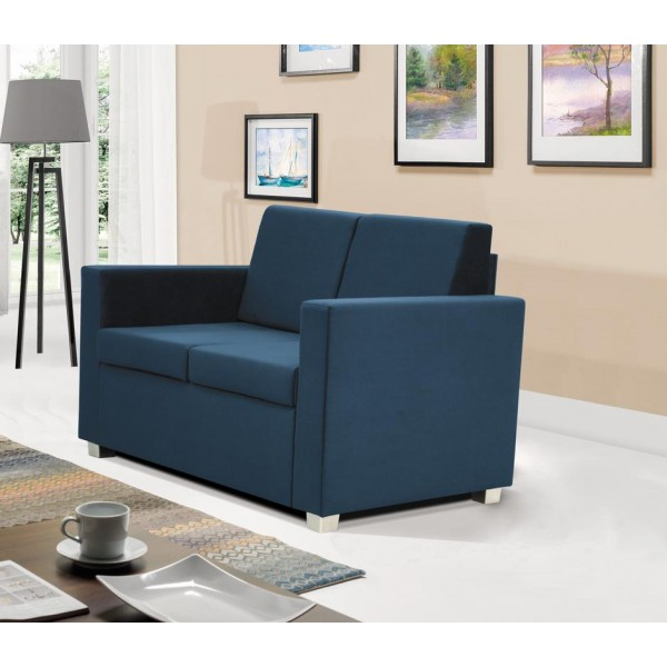Epic 2 Seater Settee in Blue Fabric