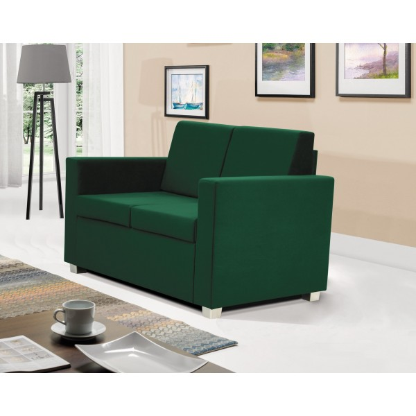 Epic 2 Seater Settee in Green Fabric