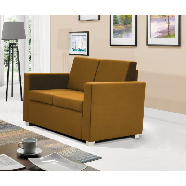 Epic 2 Seater Settee in Gold Fabric