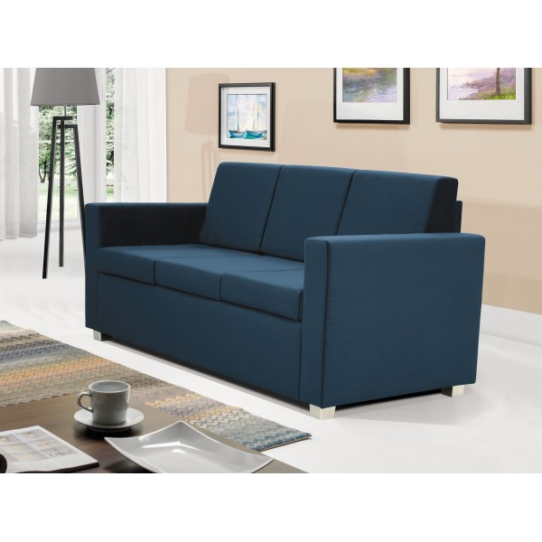 Epic 3 Seater Settee in Blue Fabric