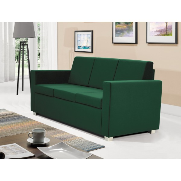 Epic 3 Seater Settee in Green Fabric