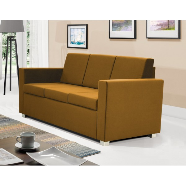 Epic 3 Seater Settee in Gold Fabric