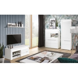 Irma White 1 Door TV Cabinet with LED Lights (Short)