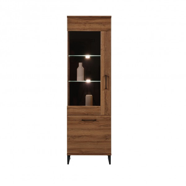 Ivo Tall Display Cabinet with LED Lights (Left)