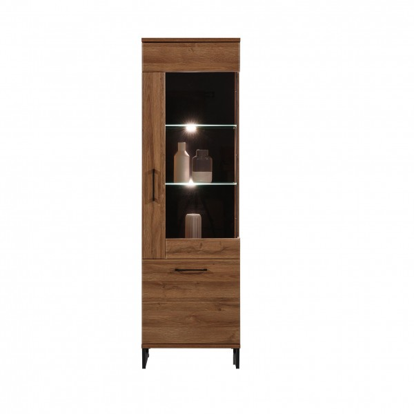 Ivo Tall Display Cabinet with LED Lights (Right)