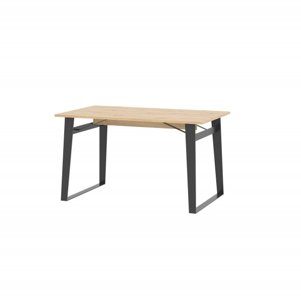 Loft Dining Table in Artisan Oak with Black Details