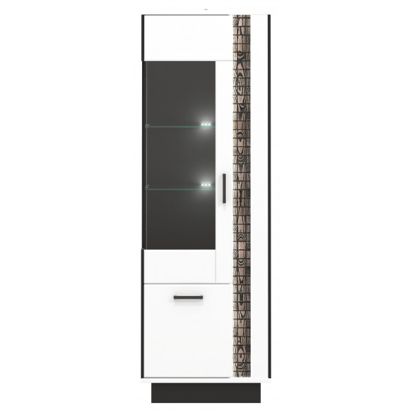 Marco 2 Door Tall Display Cabinet with LED Lights (Left)