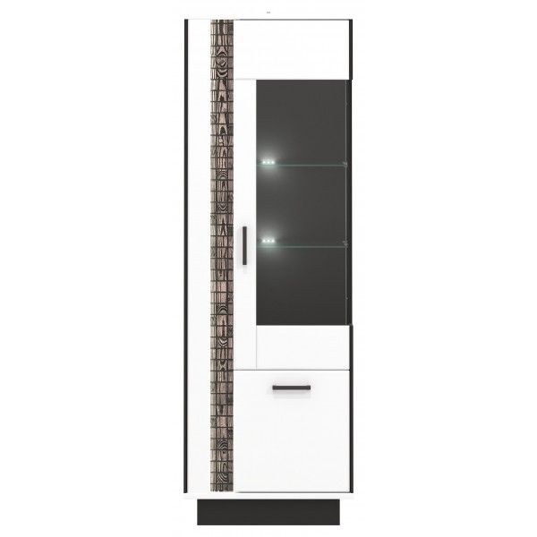 Marco 2 Door Tall Display Cabinet with LED Lights (Right)