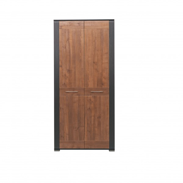 Naomi 2 Door Wardrobe with a Shelf and a Hanging Rail in Walnut and Wenge Colour