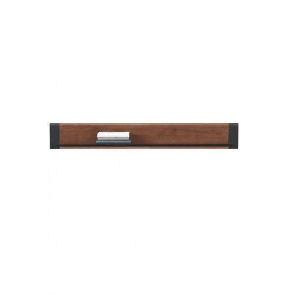 Naomi Wall Mounted Hanging Shelf in Walnut and Wenge Colour