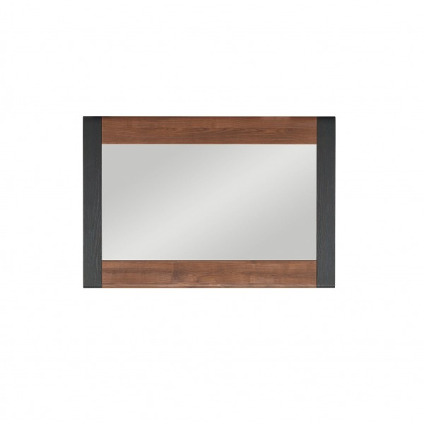 Naomi Wall Mounted Hanging Mirror in Walnut and Wenge Colour