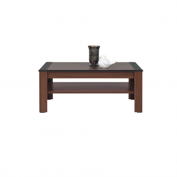 Naomi Coffee Table with a Shelf in Walnut and Wenge Colour