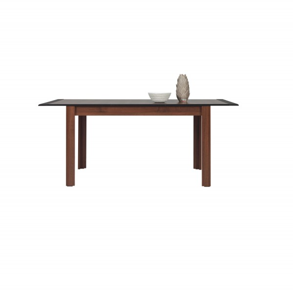 Naomi Extendable Dining Table in Walnut and Wenge Colour