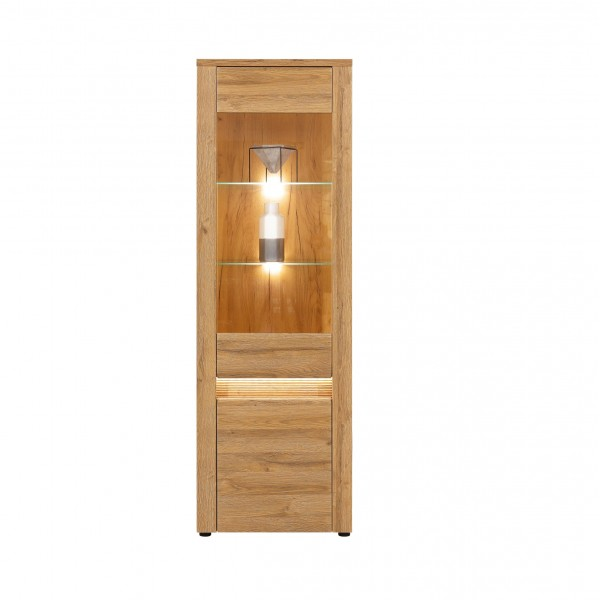Sandy Tall Glass Door Display Unit with LED Lights