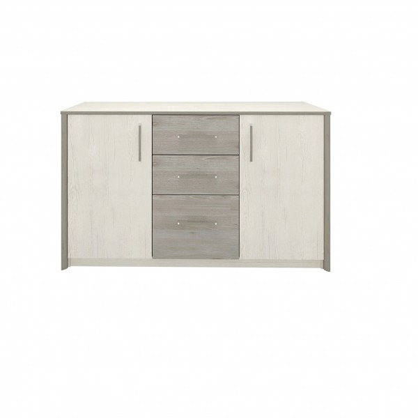 Sara Sideboard with 3 Drawers in Pino Aurelio & Nelson Colour