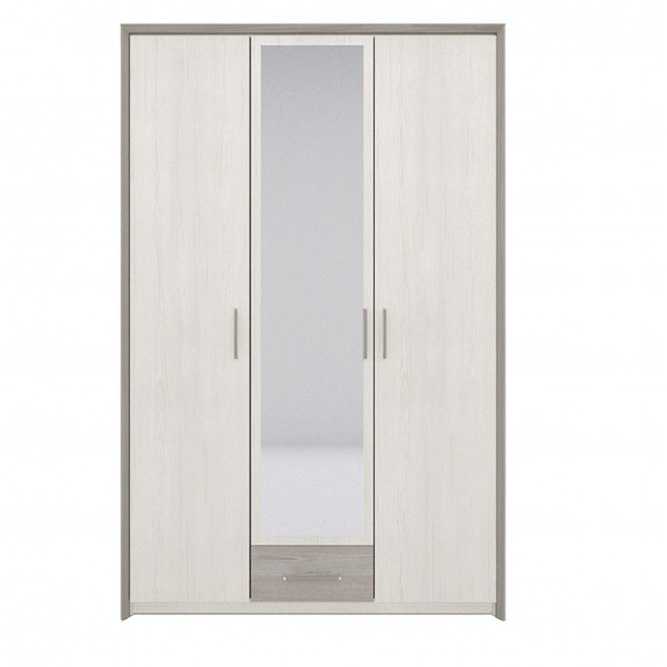 Sara 3 Door Wardrobe with a Hanging Rail, Shelves and a Drawer