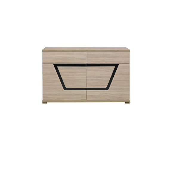 Tes 2 Door Cupboard with 2 Drawers in Elm Matt colour with Push-To-Open System