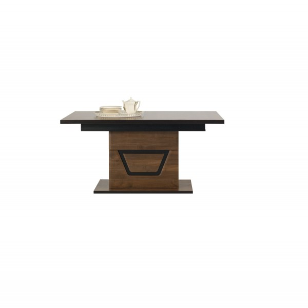 Tes Extendable Dining Table in Walnut Colour