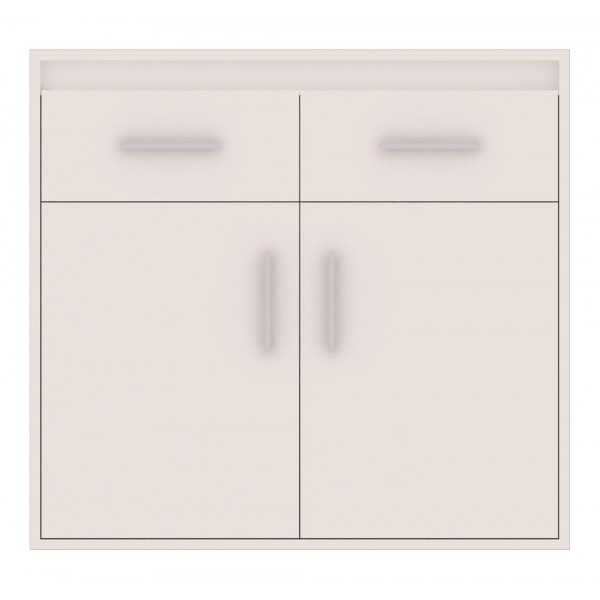 Texas Cupboard with 2 Drawers in White Matt