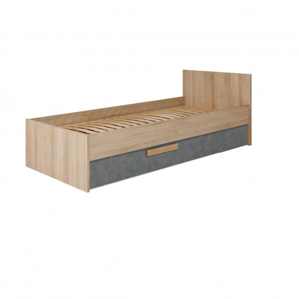 Aygo European Single Bed Frame 90/200cm with a Drawer