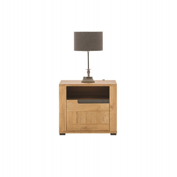 York Bedside Table with a Drawer (Left)