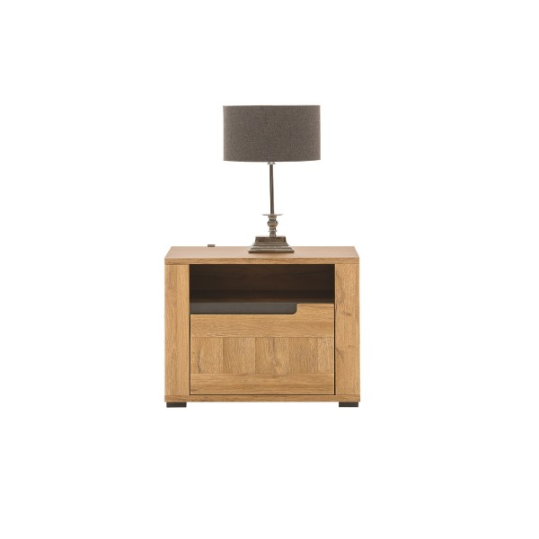 York Bedside Table with a Drawer (Right)